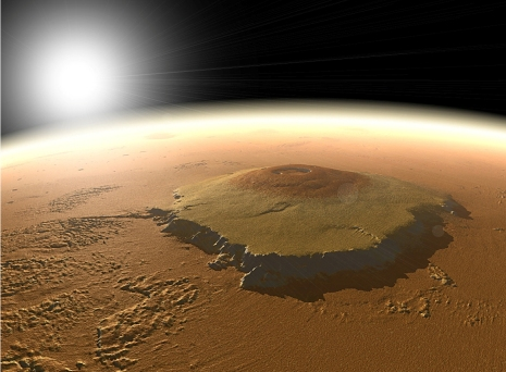 Artist's concept of Olympus Mons