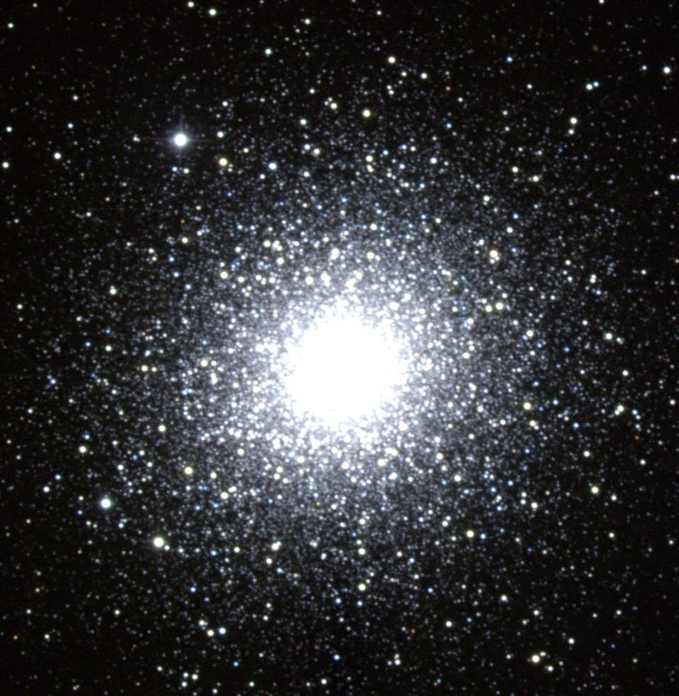 Ground-based telescope view of globular cluster M2 in Aquarius