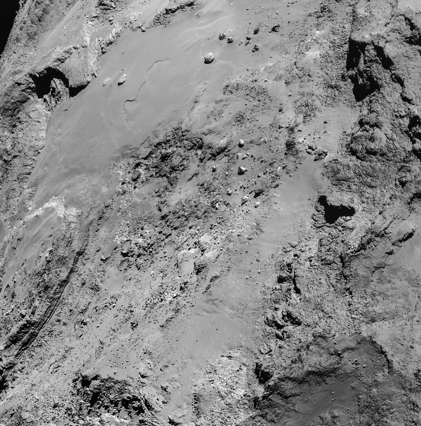 Rosetta view of Comet Churyumov-Gerasimenko on February 14, 2015
