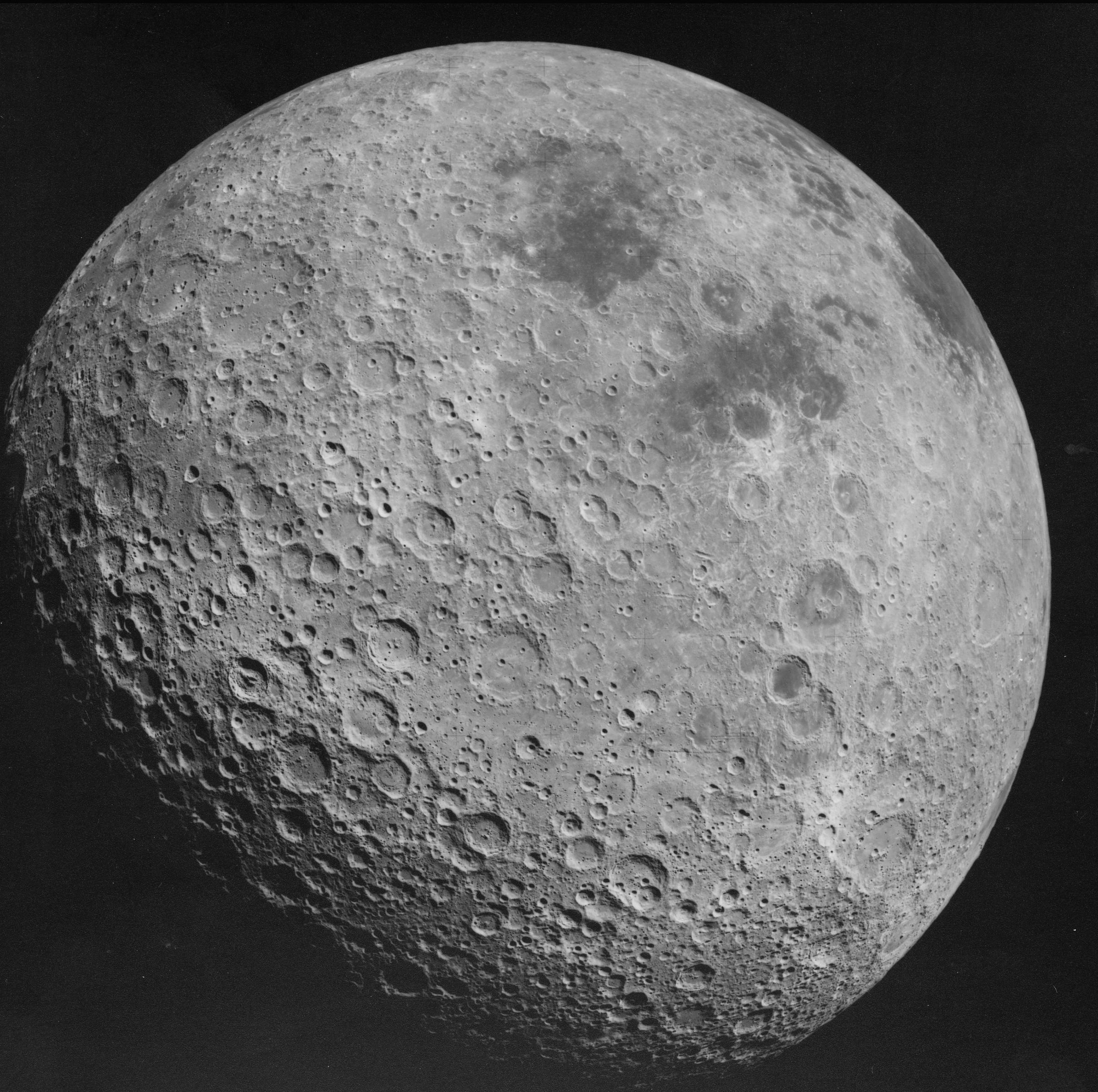 Apollo 16 image of the lunar farside