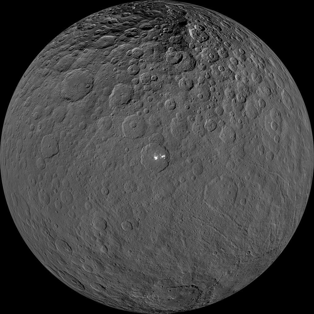 Dawn view of Ceres