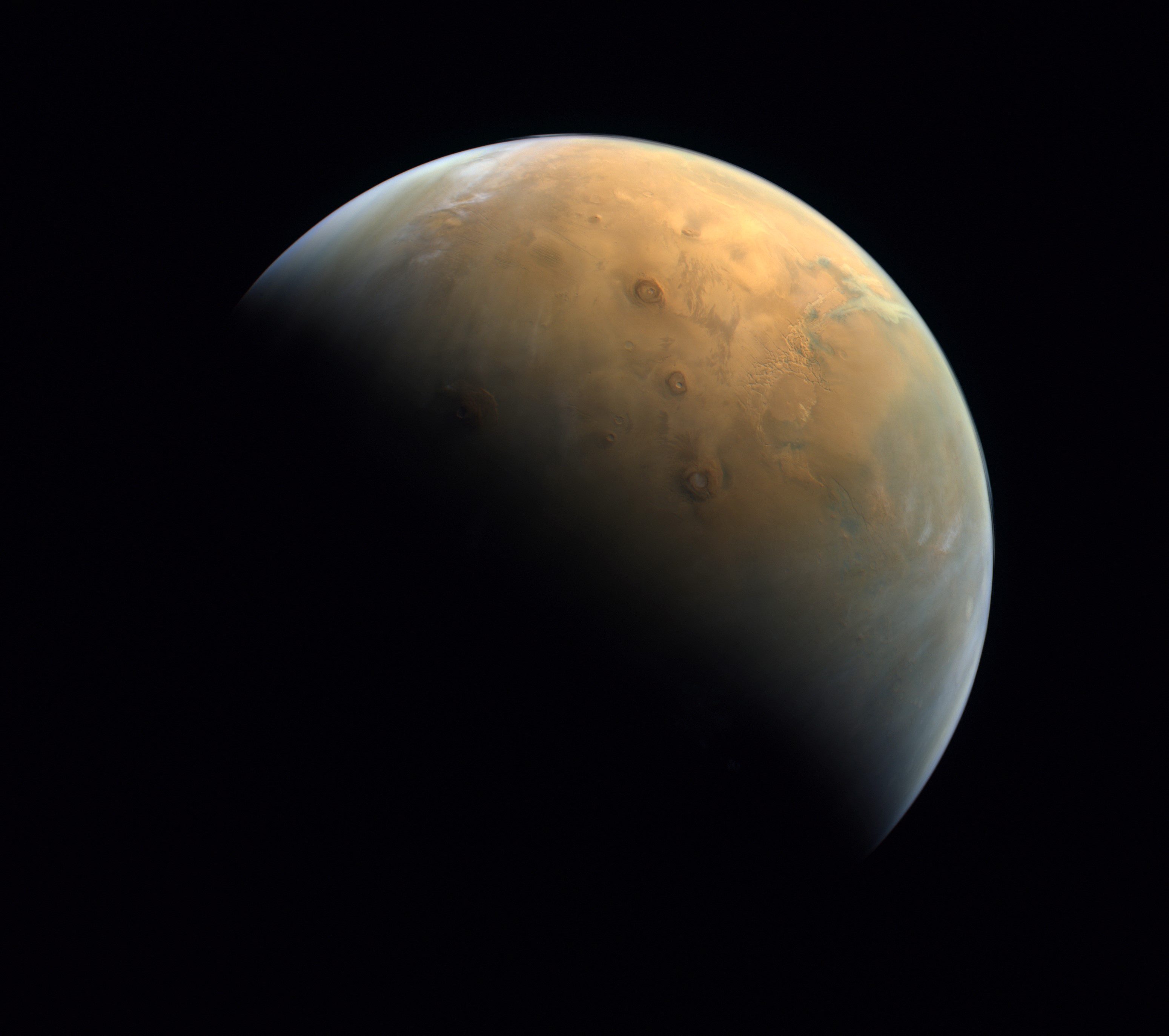 The first image of Mars from the Hope orbiter, February 10