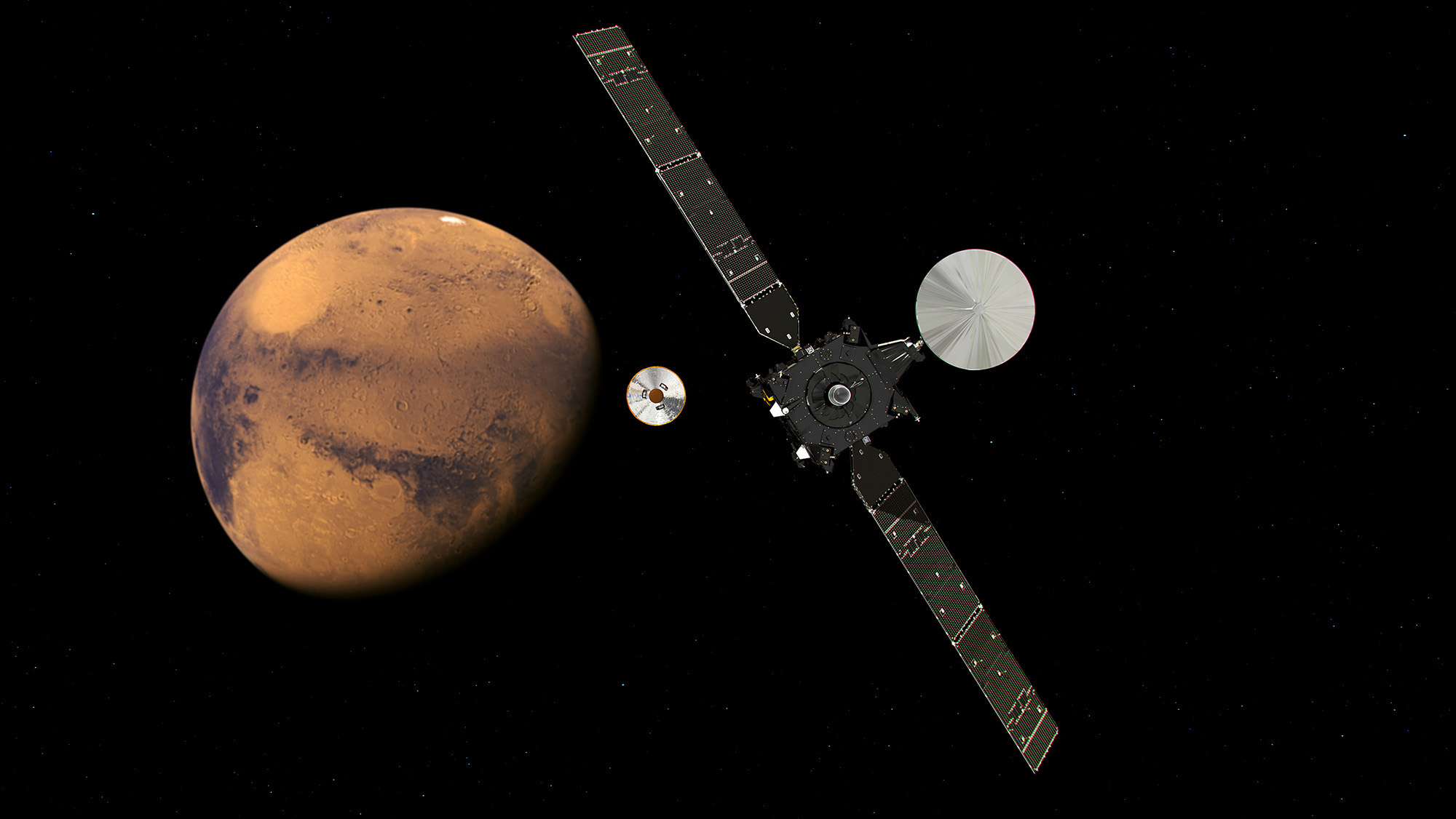 The ExoMars 2016 mission approaches the Red Planet