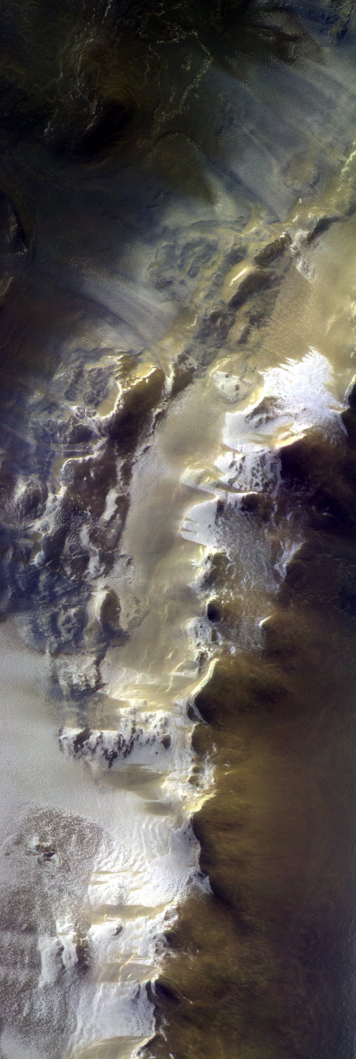 Trace Gas Orbiter view of Korolev Crater on Mars