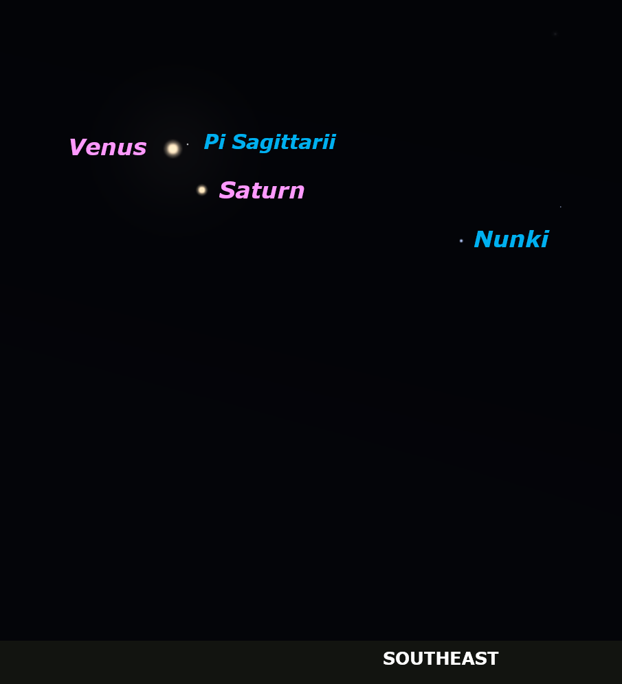 Venus and Saturn in the dawn sky