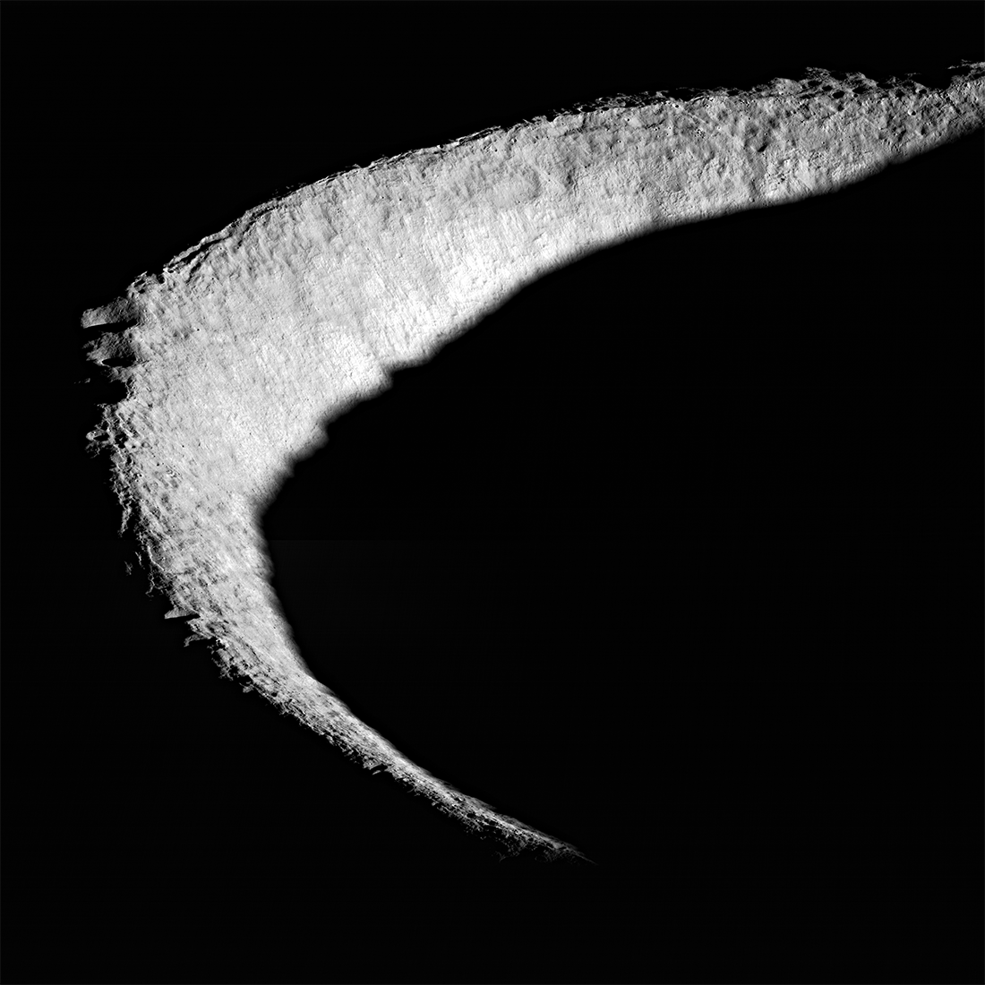 Lunar Reconnaissance Orbiter view of Shackleton crater at lunar south pole