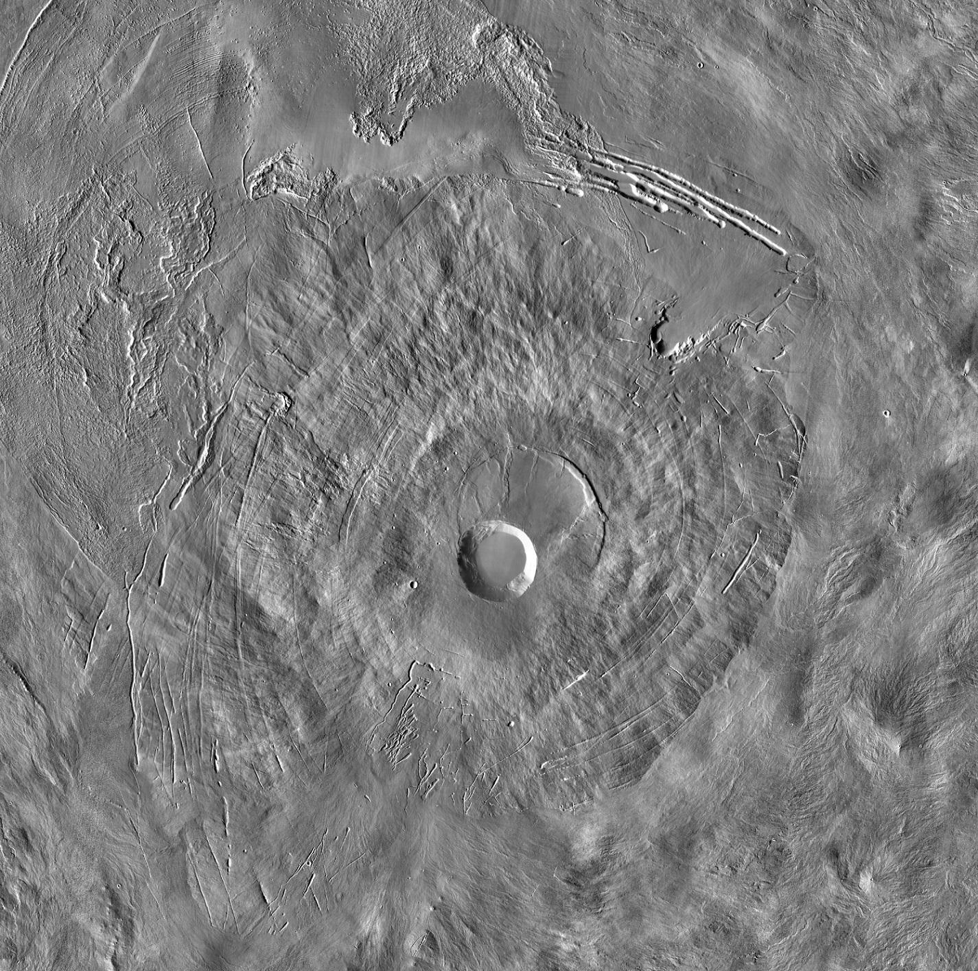 Pavonis Mons on Mars