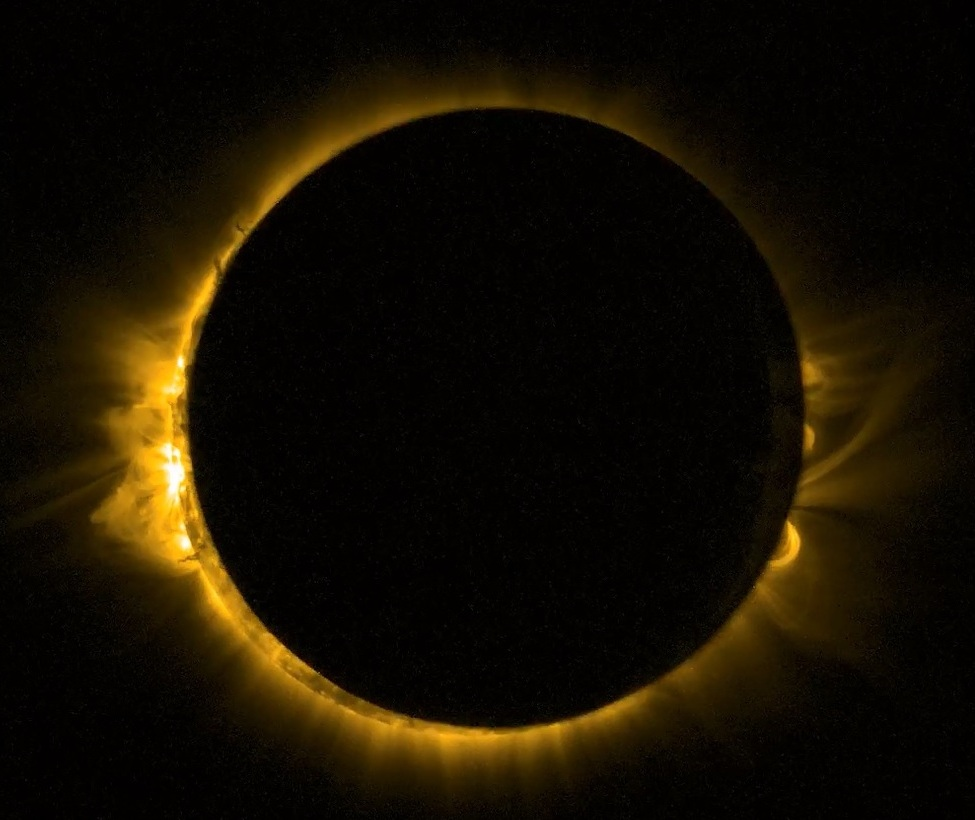 Space-based view of solar eclipse of March 20, 2015