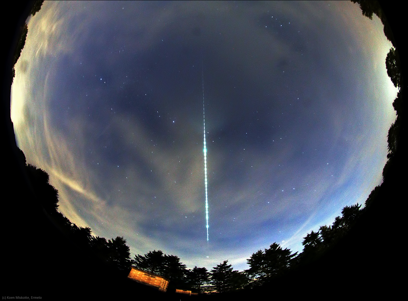 Bright meteor over Europe
