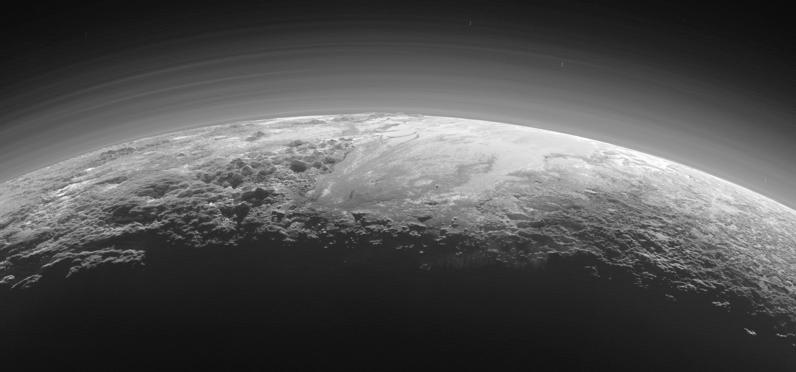 New Horizons view of haze in Pluto's atmosphere