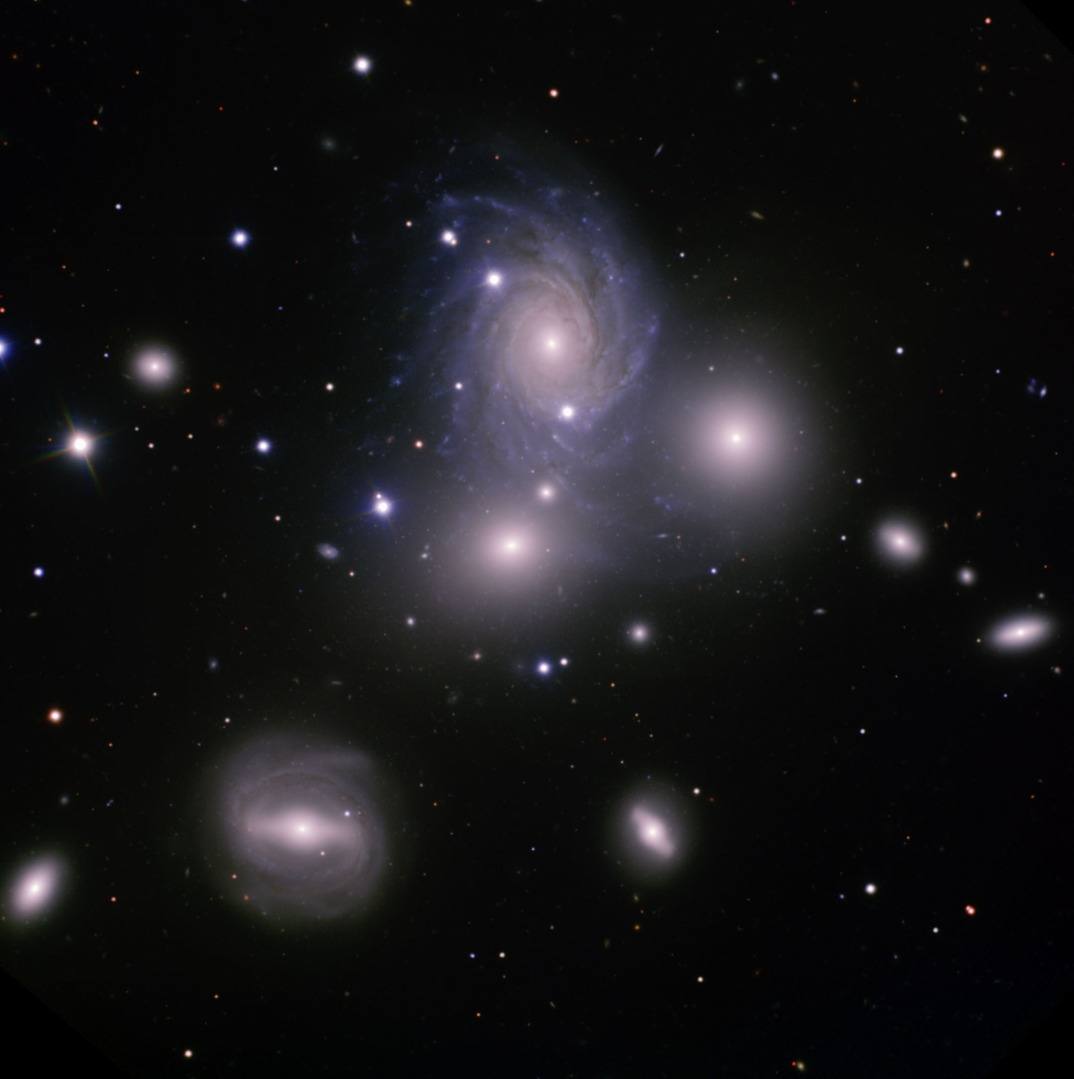Gemini Observatory image of VV 166 galaxy group