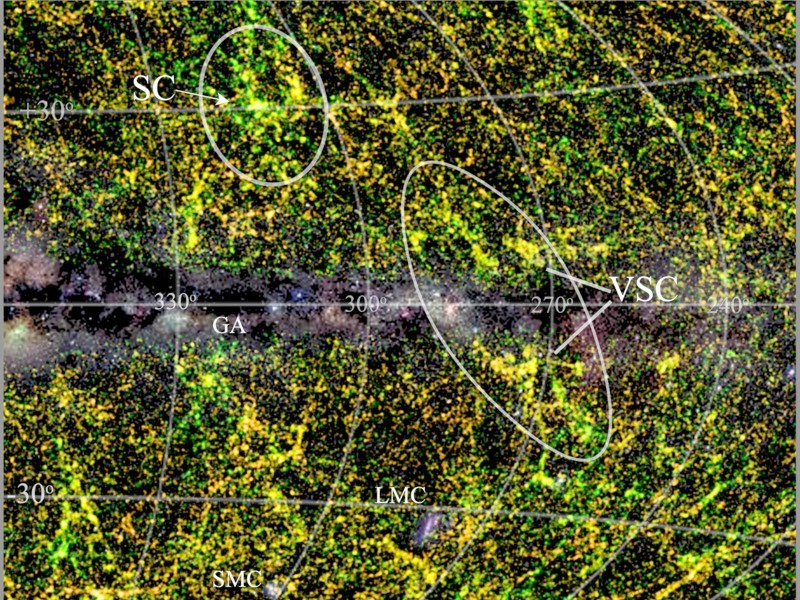 Galaxy map shows