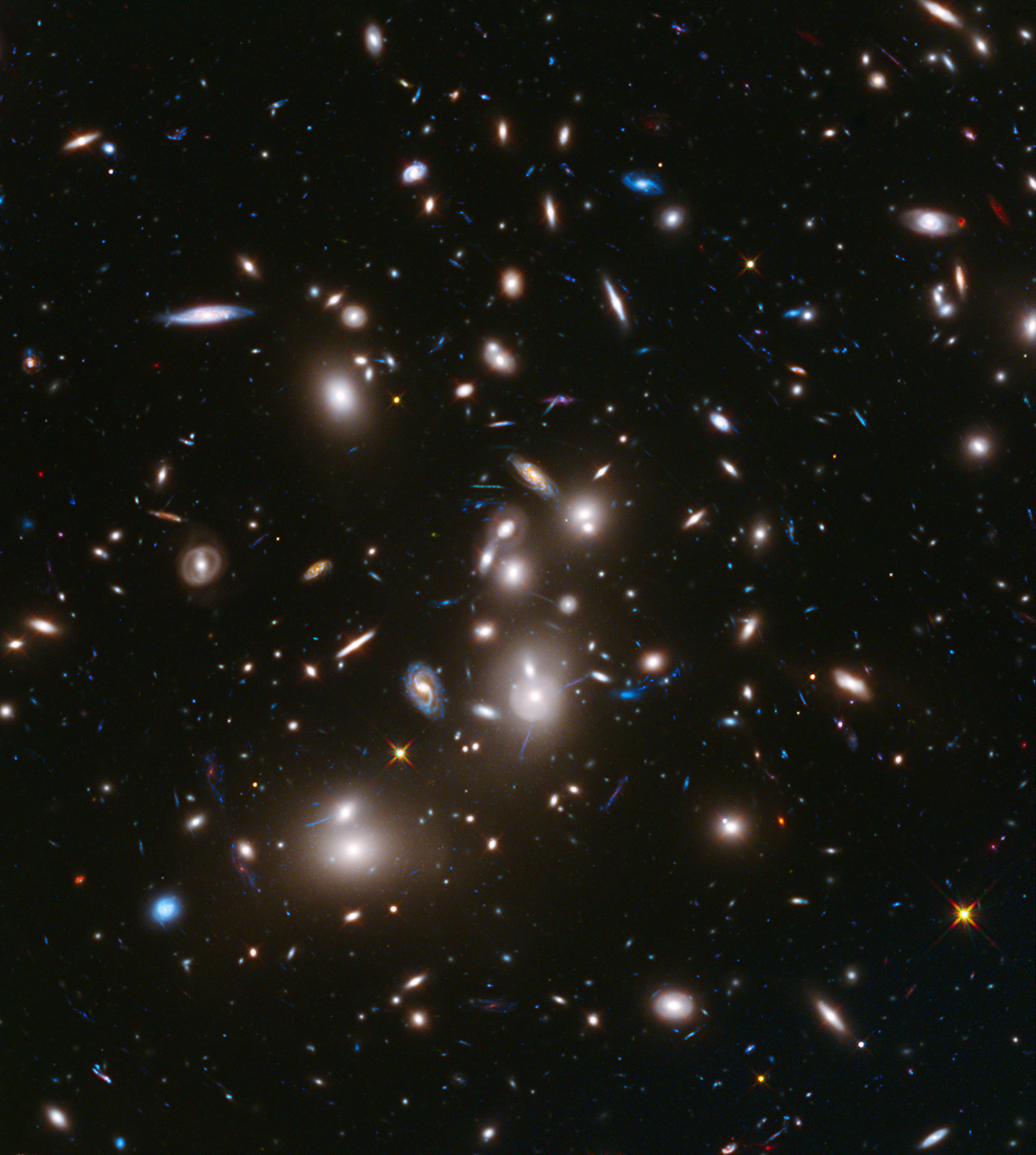 Hubble Space Telescope view of Abell 2744, a massive galaxy cluster