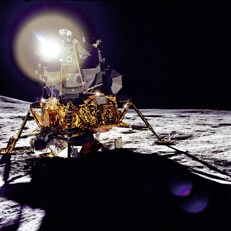Antares, the Apollo 14 lunar module, at Fra Mauro