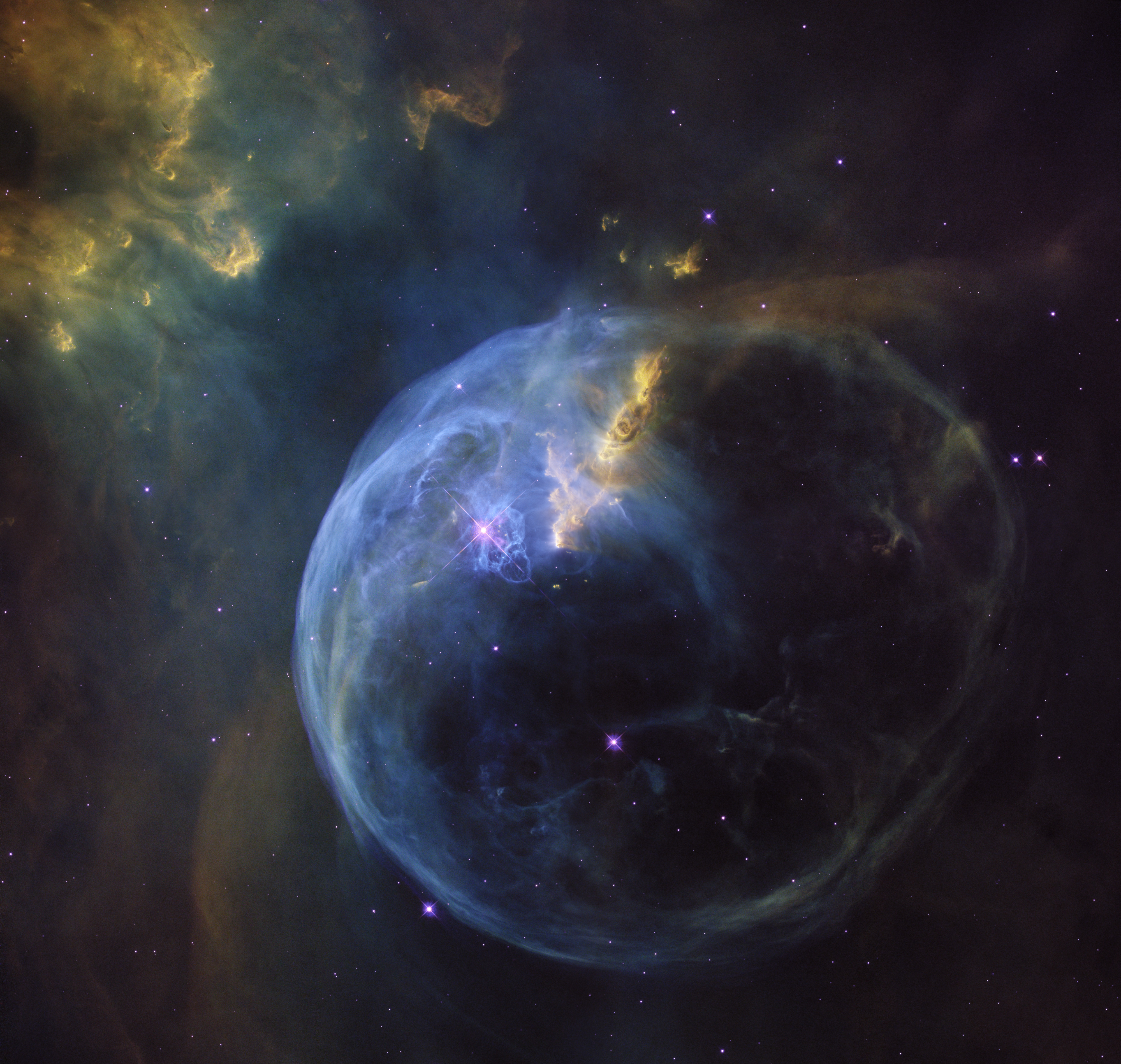 Hubble view of Bubble Nebula
