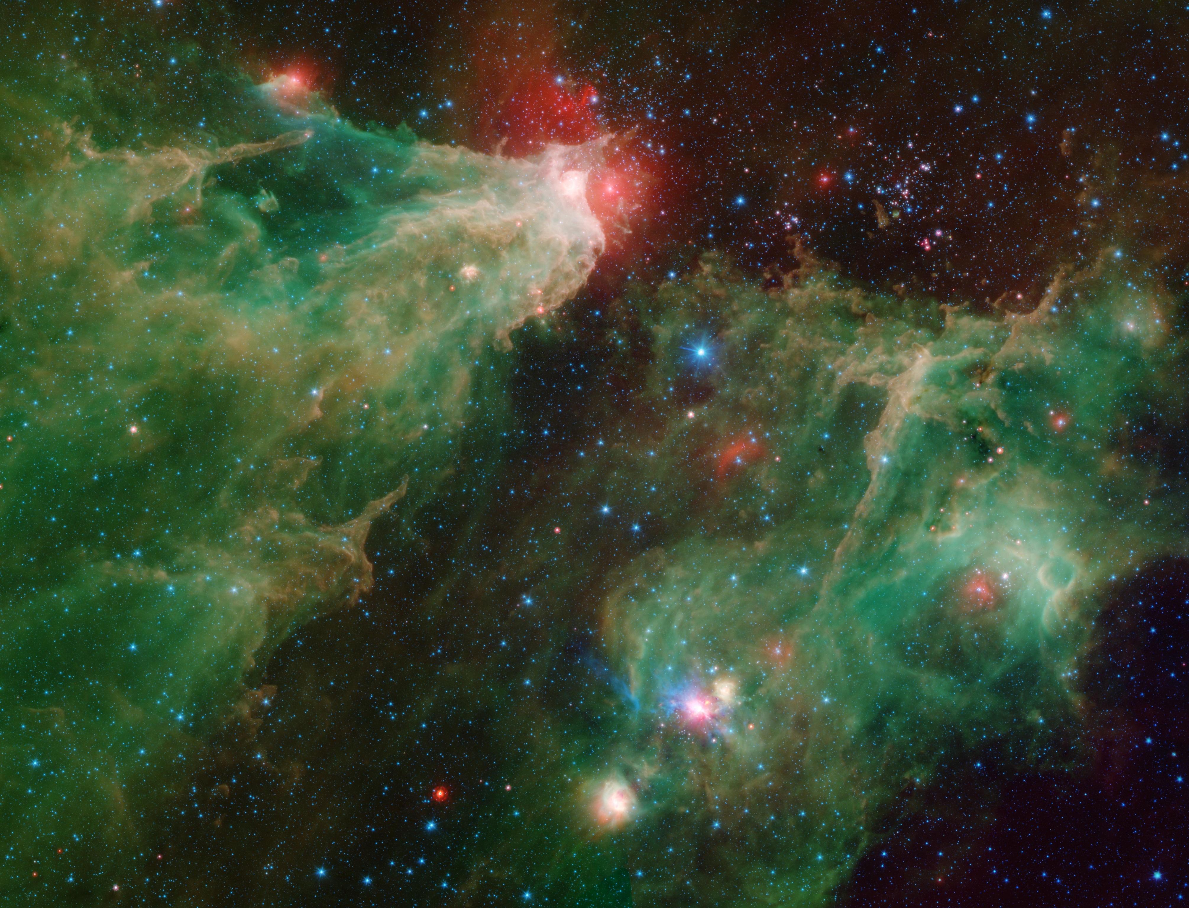 Infrared view of a stellar nursery in Cepheus