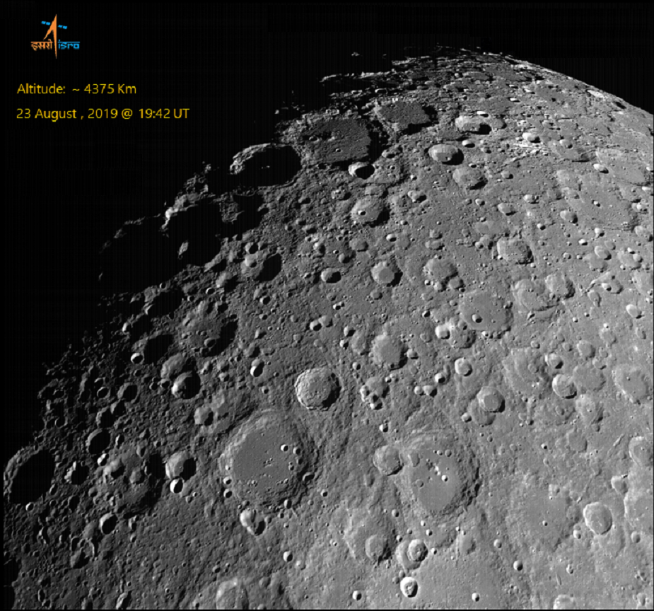 Chandrayaan 2 view of lunar north polar region