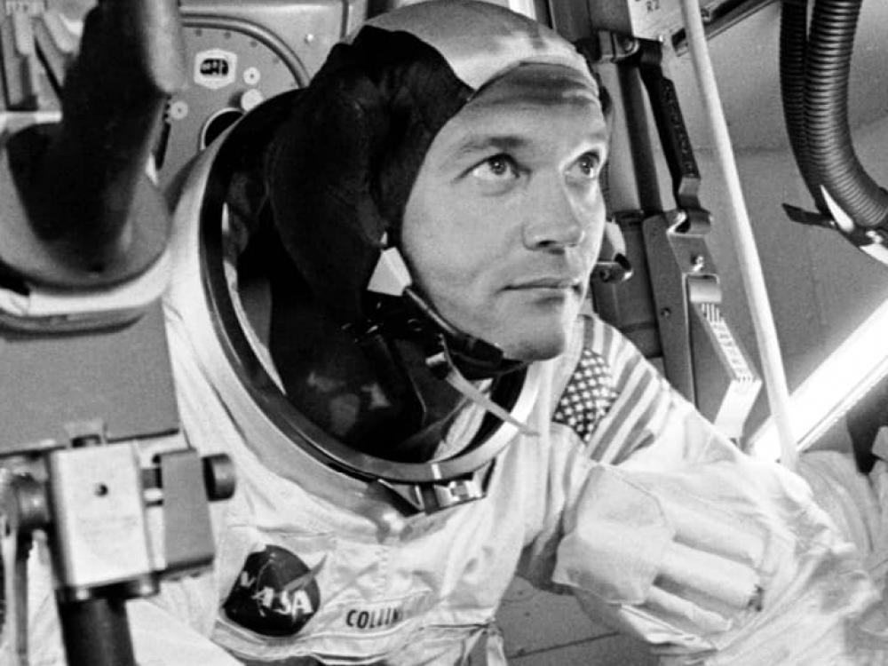 Astronaut Michael Collins training for Apollo 11