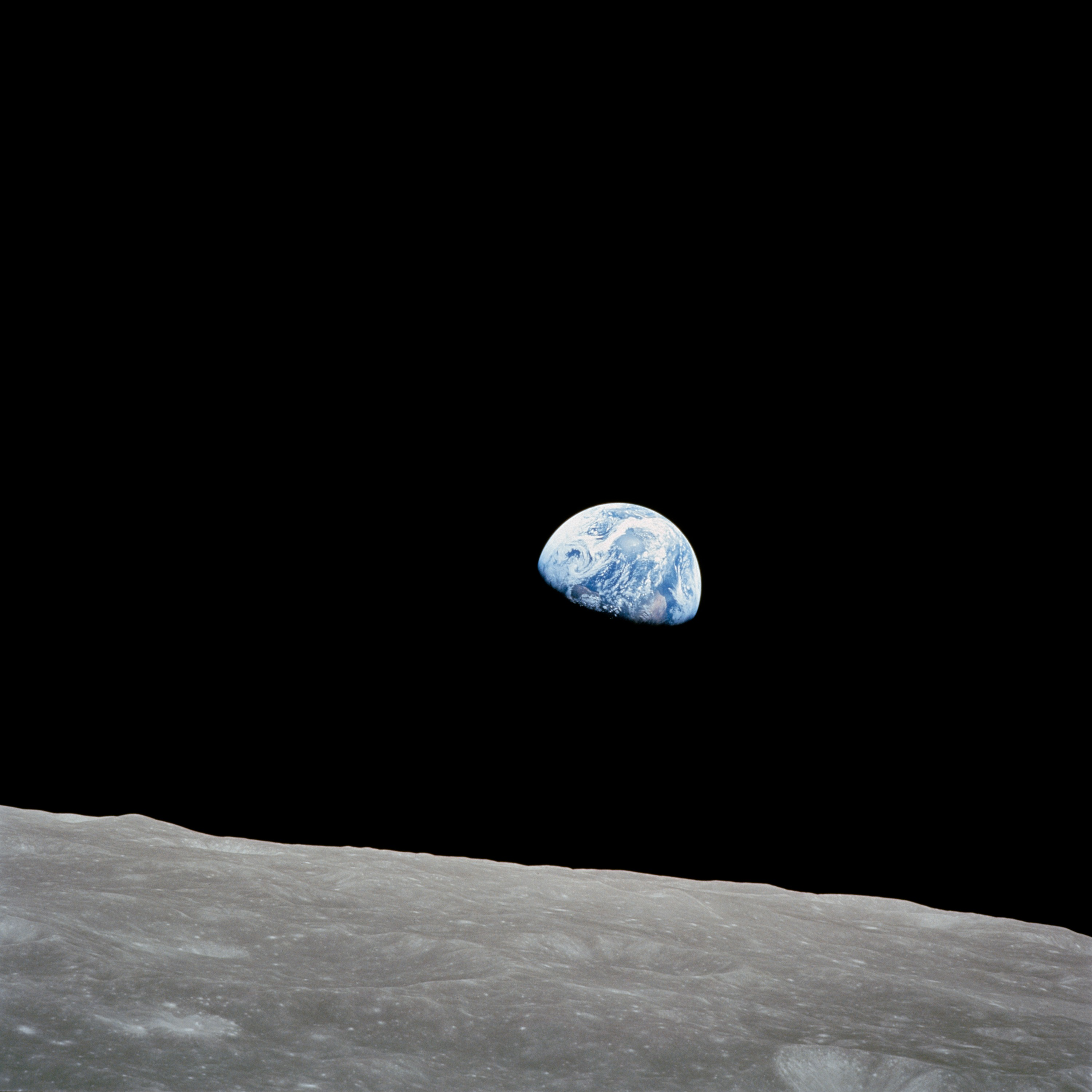 Earthrise over the Moon