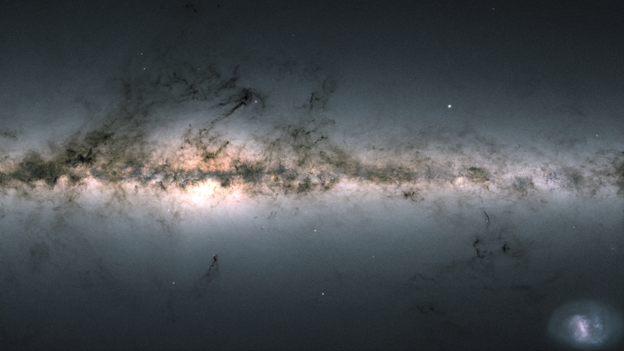 Gaia view of the Milky Way, 2020