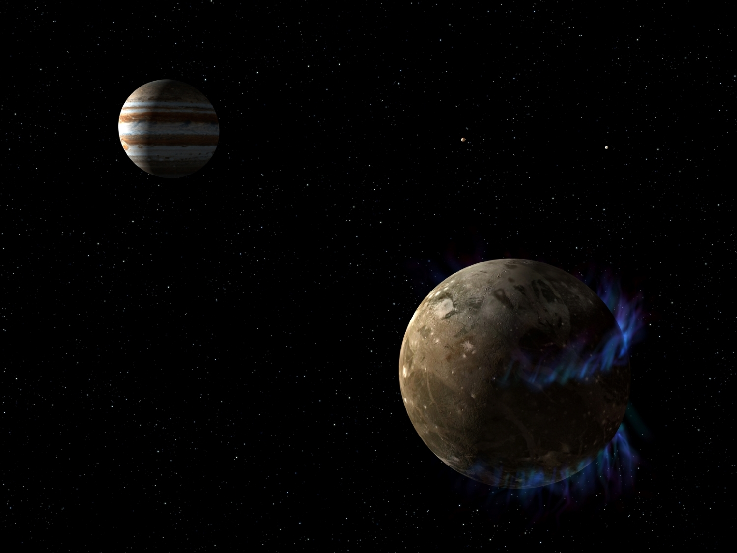Ganymede and Jupiter