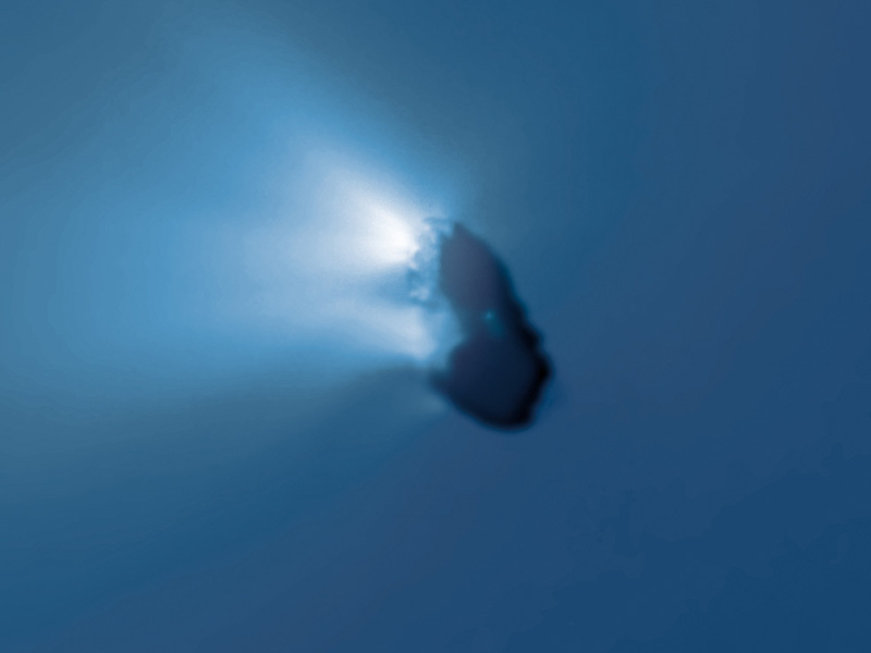 Giotto view of Halley's Comet, March 1986