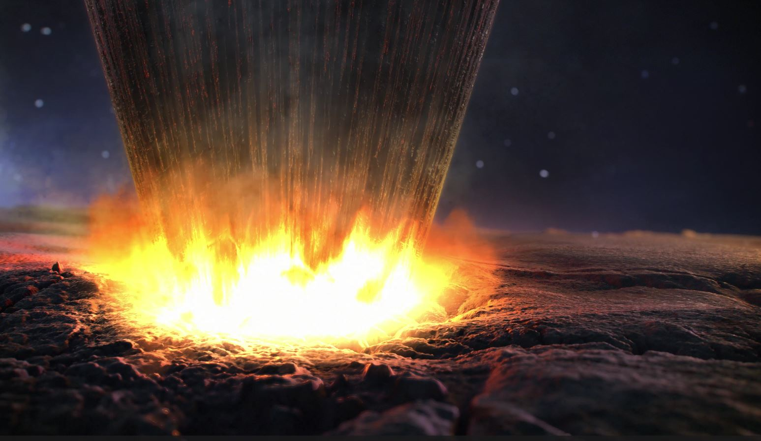 An asteroid slams into Greenland
