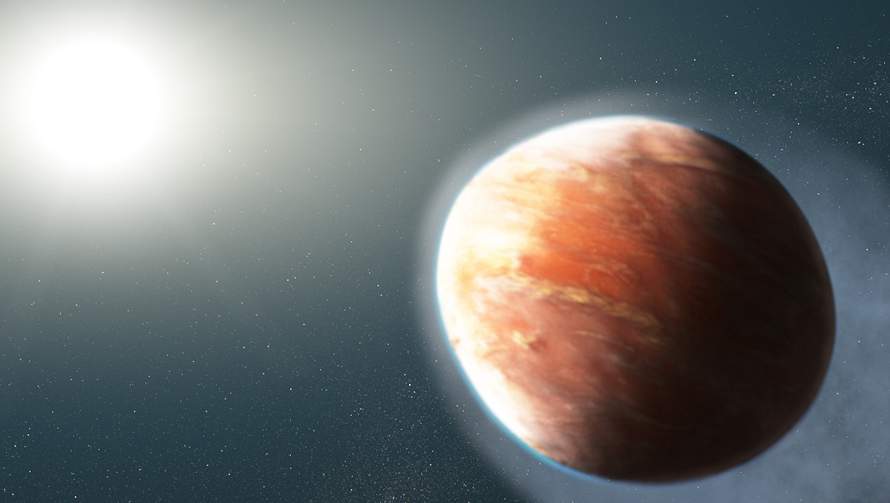 Artist's concept of a super-heated planet
