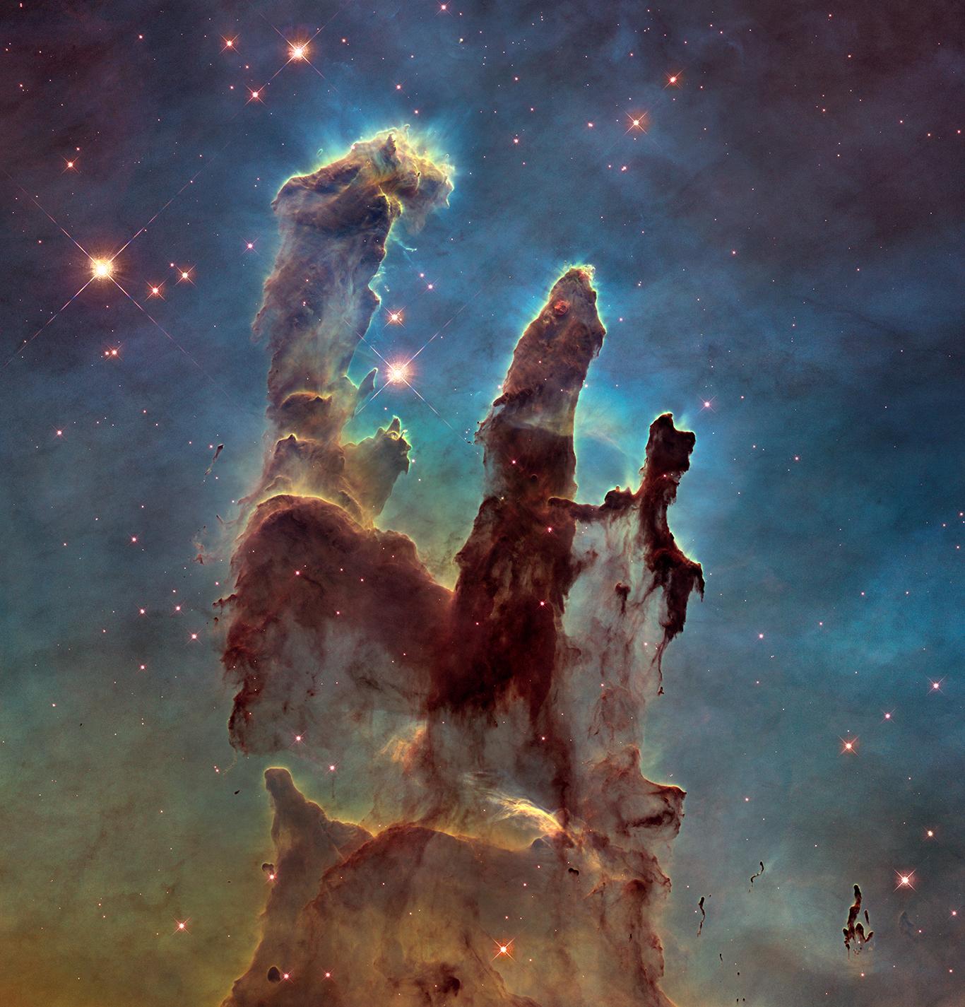 A stellar nursery known as the Pillars of Creation