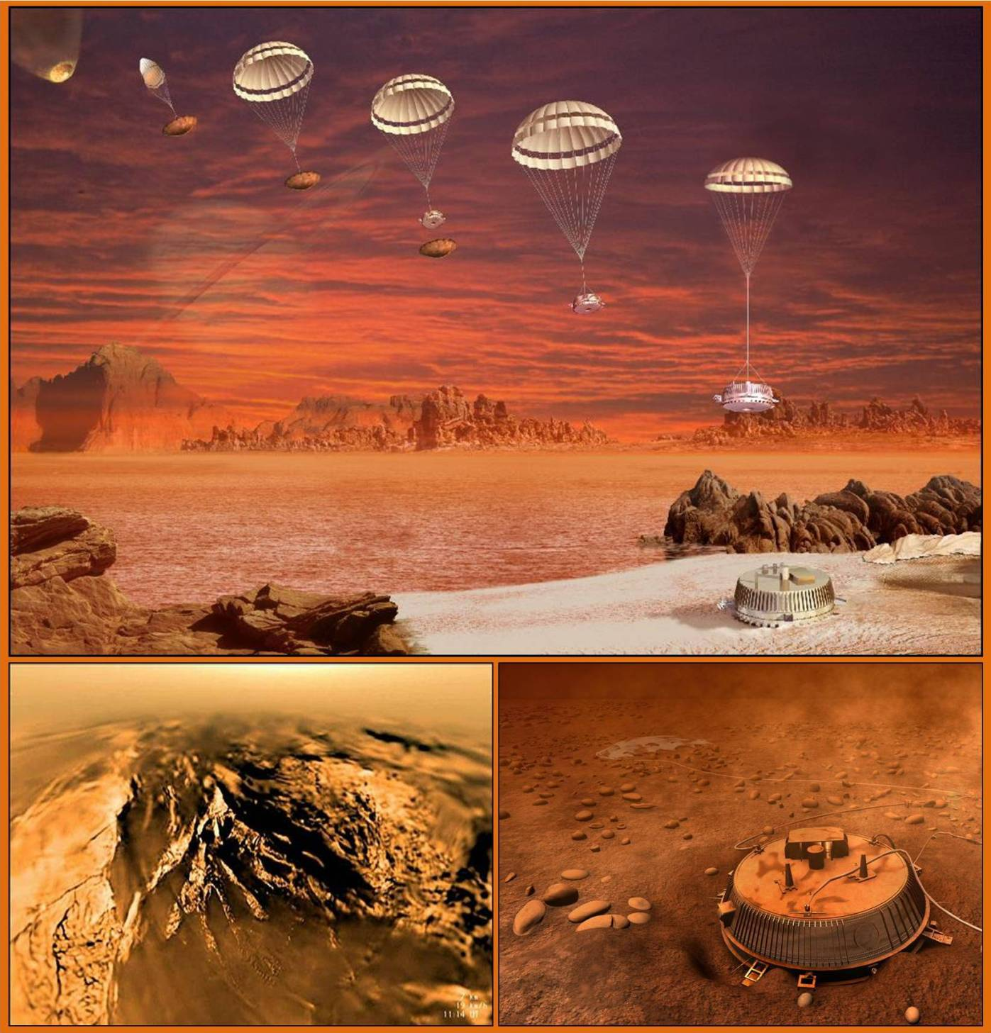 The Huygens probe arrives at Titan in 2005