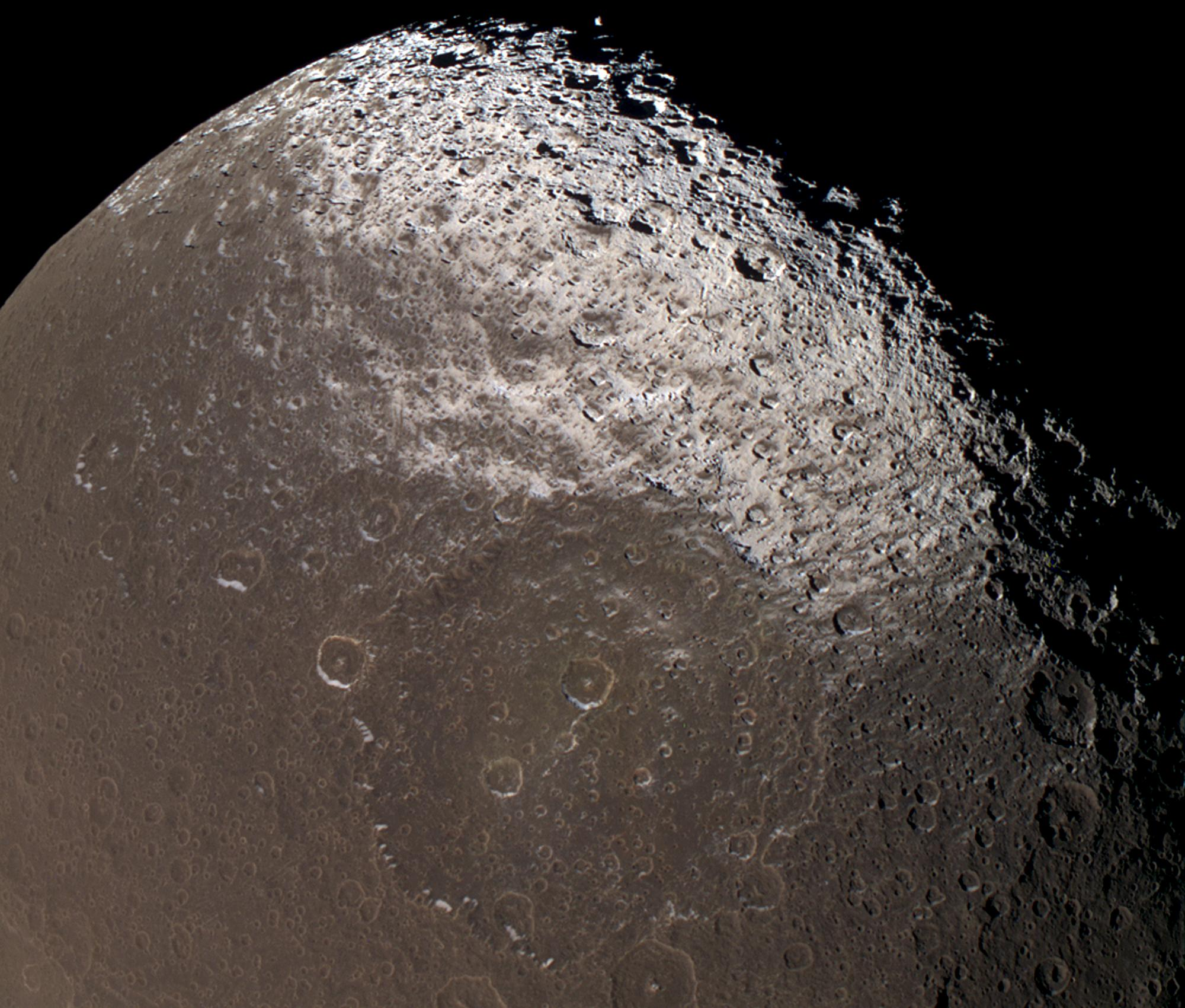 Cassini view of Iapetus, a moon of Saturn