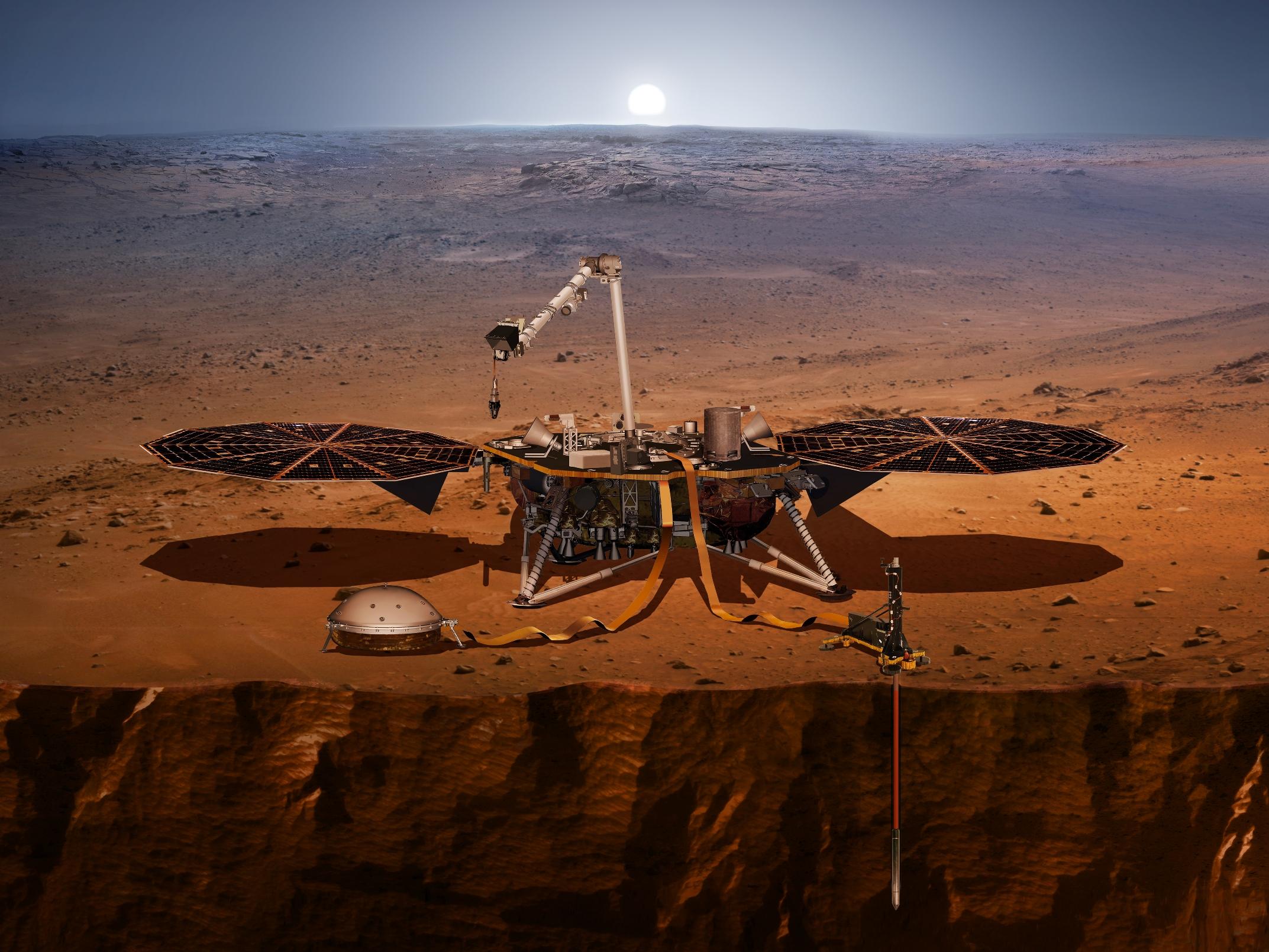 InSight lander on the surface of Mars