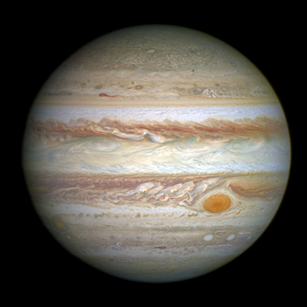 Hubble view of Jupiter, 2014