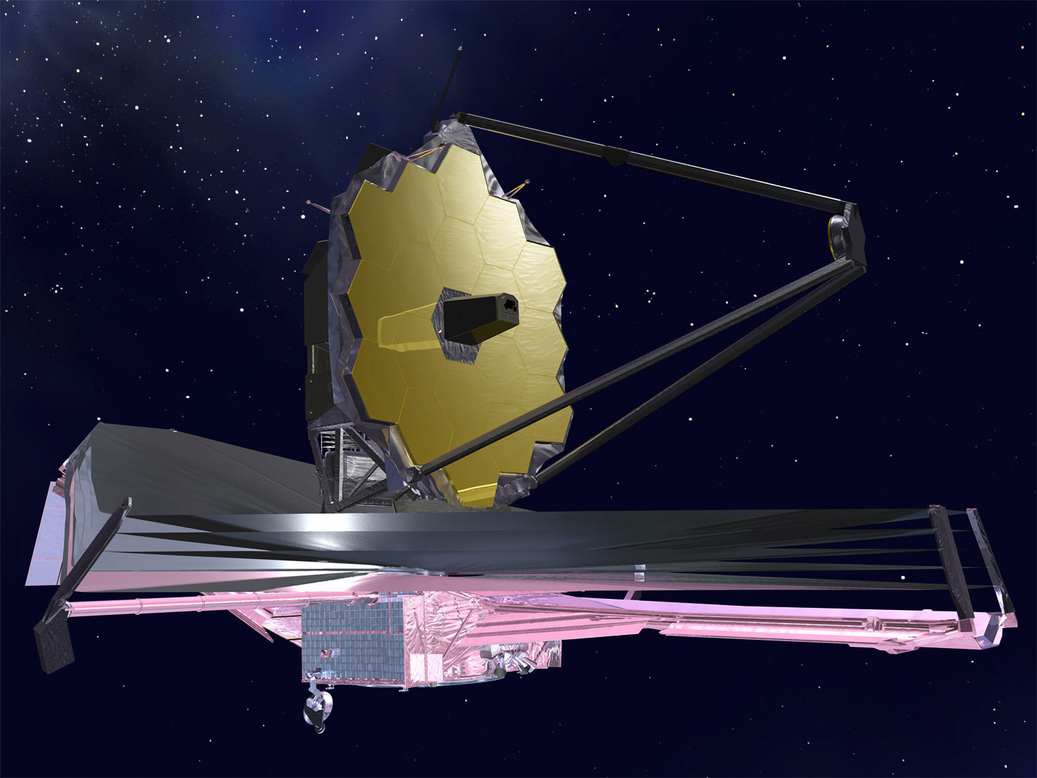 Artist's concept of James Webb Space Telescope at work