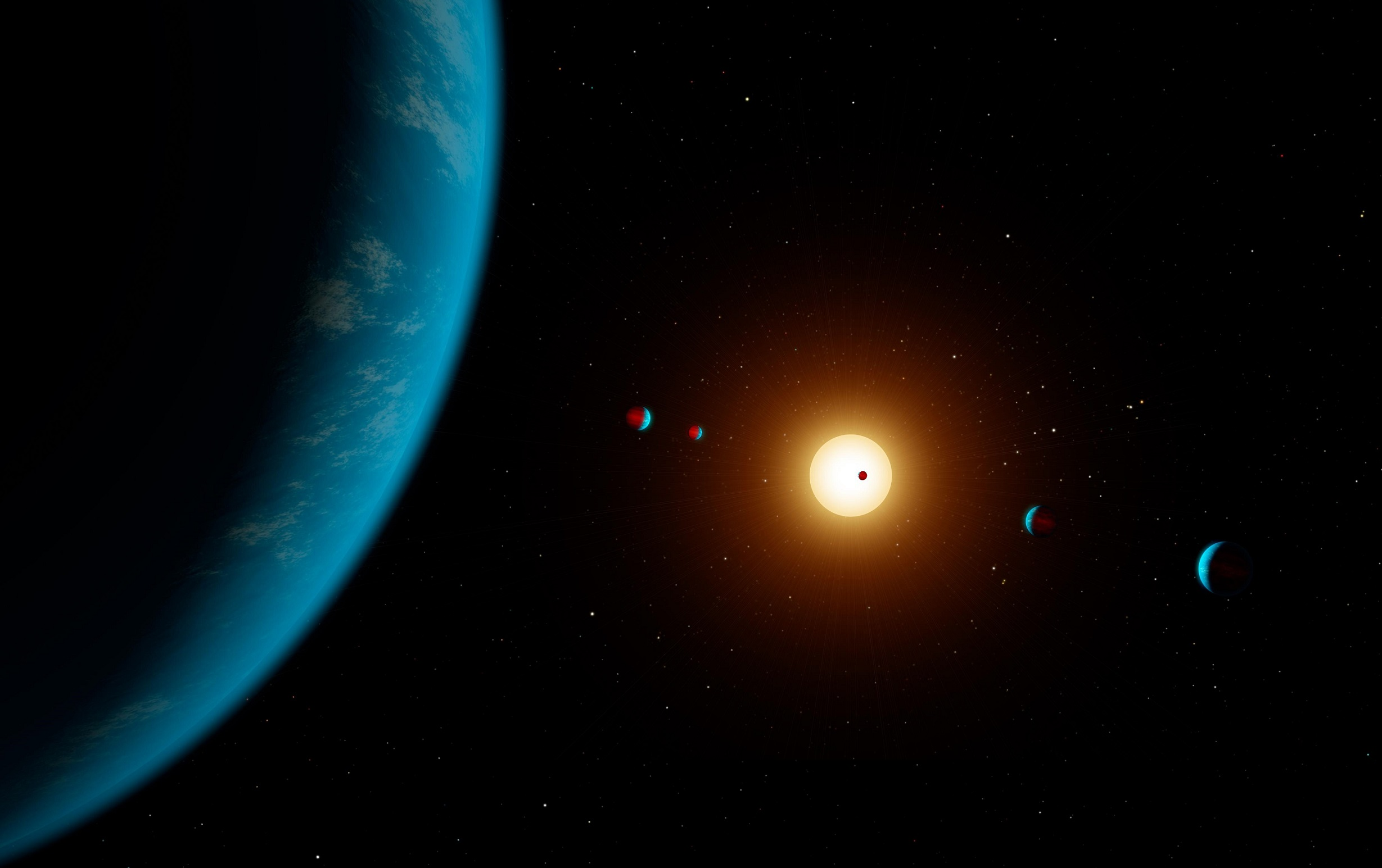 Artist's concept of K2-138 planetary system