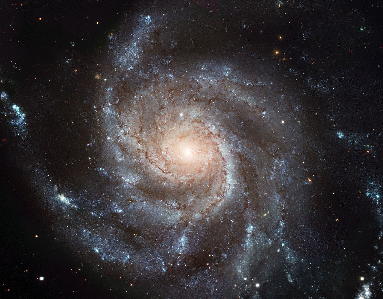 Hubble Space Telescope view of Messier 101