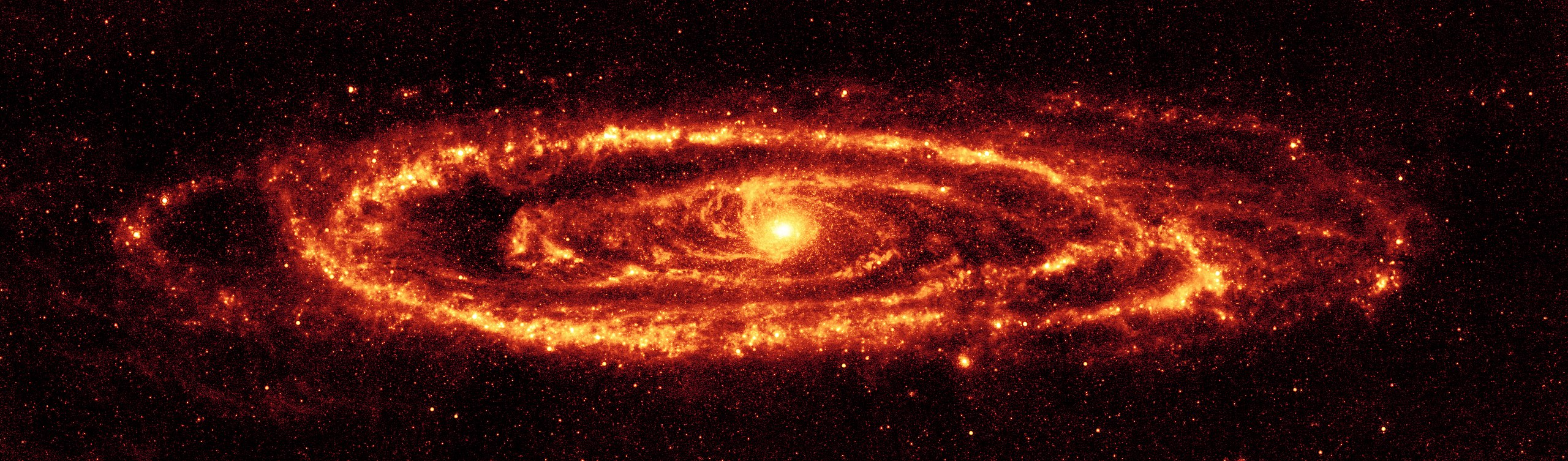 Spitzer infrared view of M31