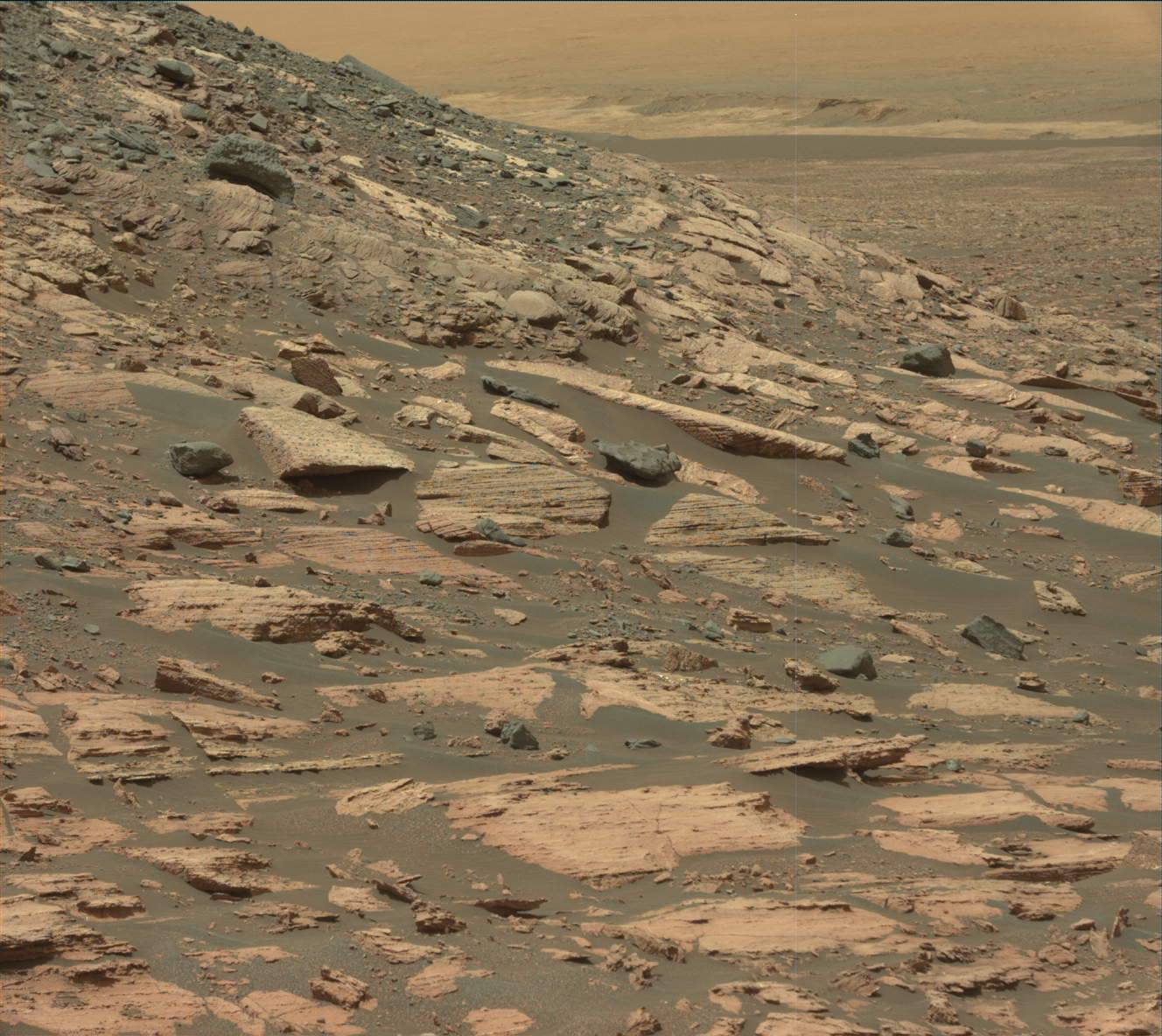 Curiosity rover view of Mars, February 10, 2017