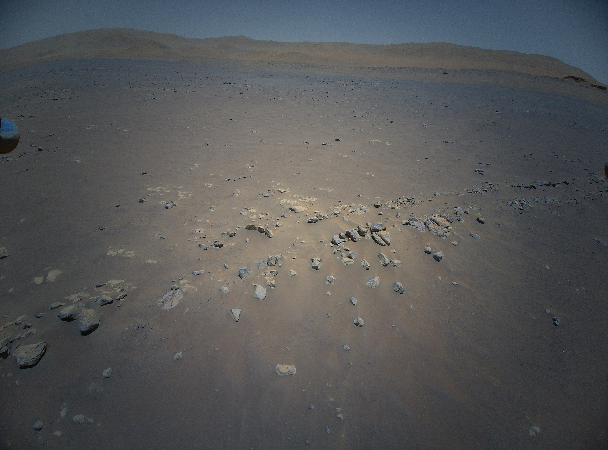 view from mars helicopter