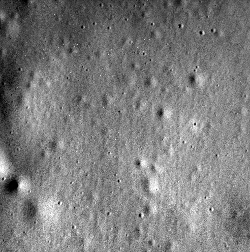 The Messenger spacecraft's final image of the surface of Mercury