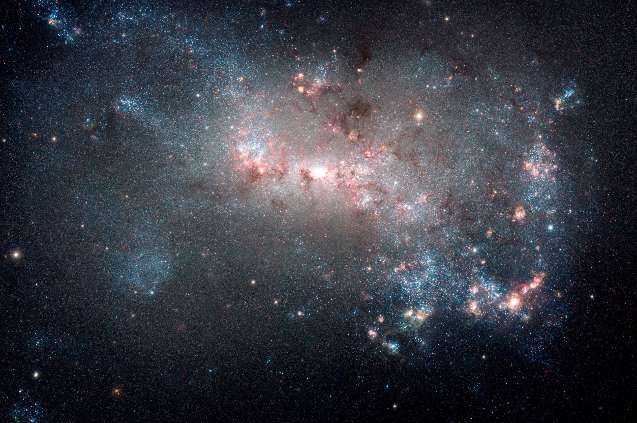 Hubble Space Telescope view of galaxy NGC 4449