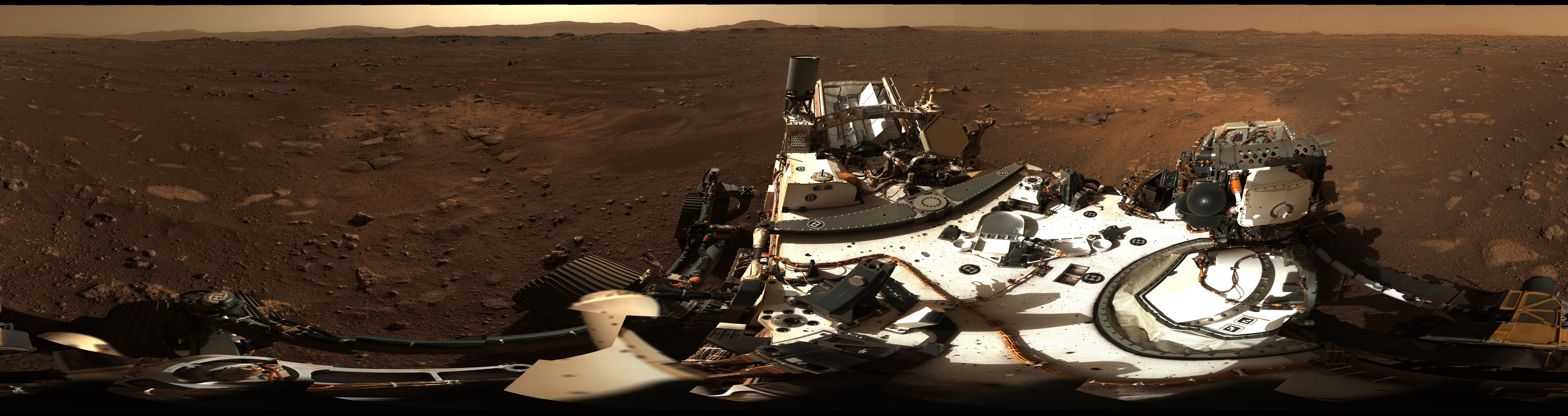 Panorama of the Perseverance rover landing site