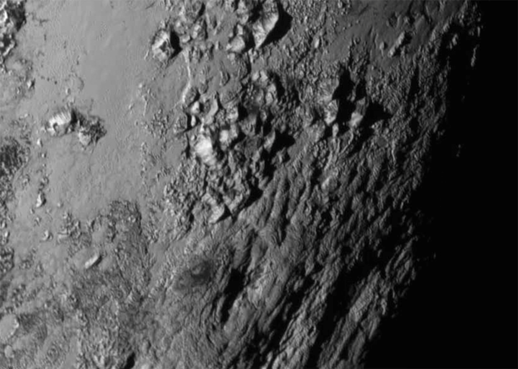 New Horizons view of young mountains on Pluto