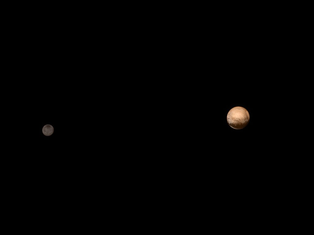 July 8 view of Charon, Pluto from New Horizons