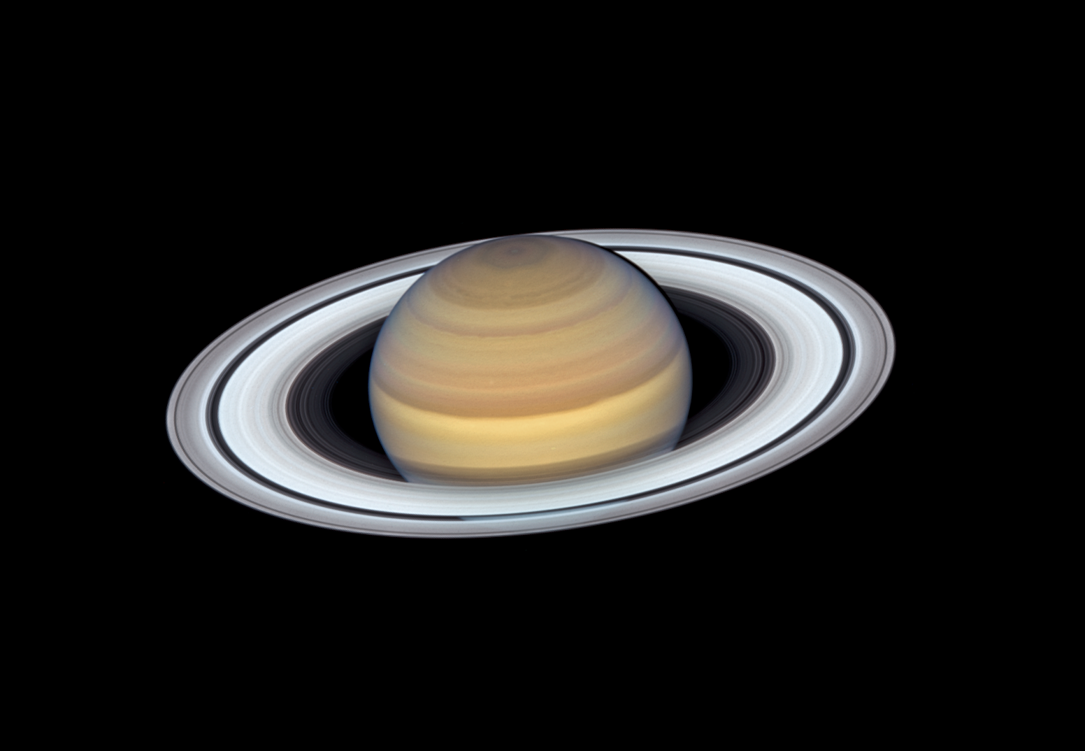 2019 Hubble Space Telescope view of Saturn and its rings