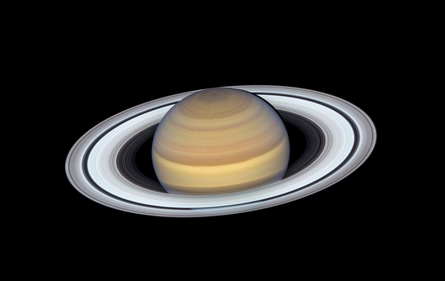 Hubble Space Telescope view of Saturn, June 2019
