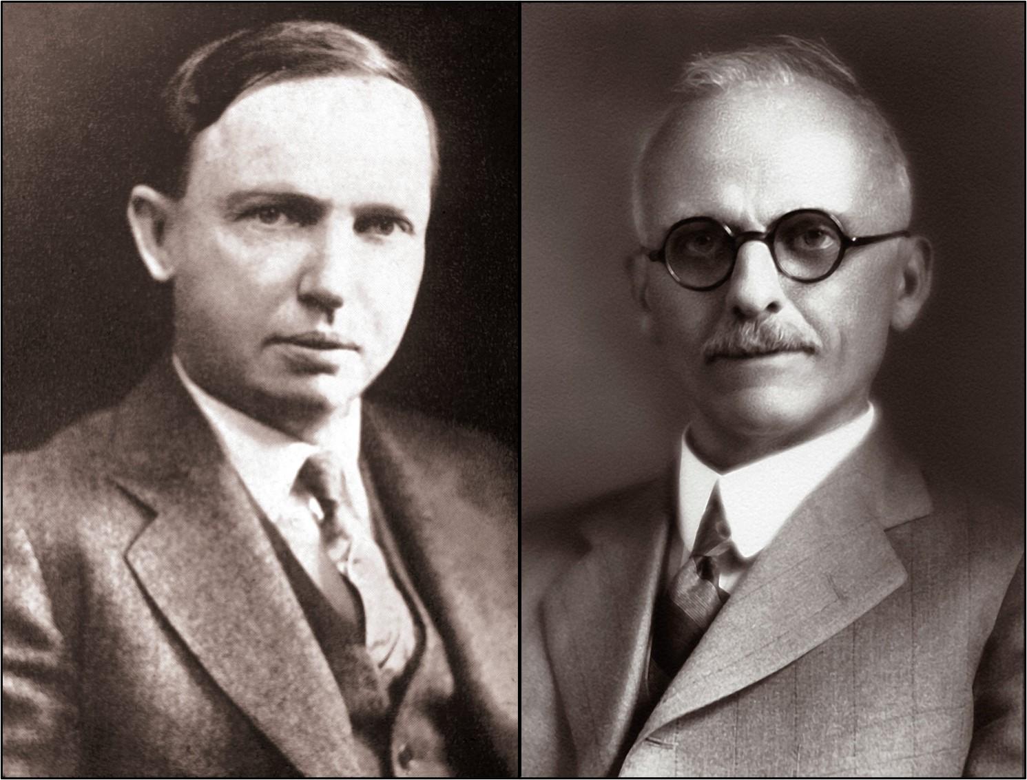 Harlow Shapley (left), Heber Curtis