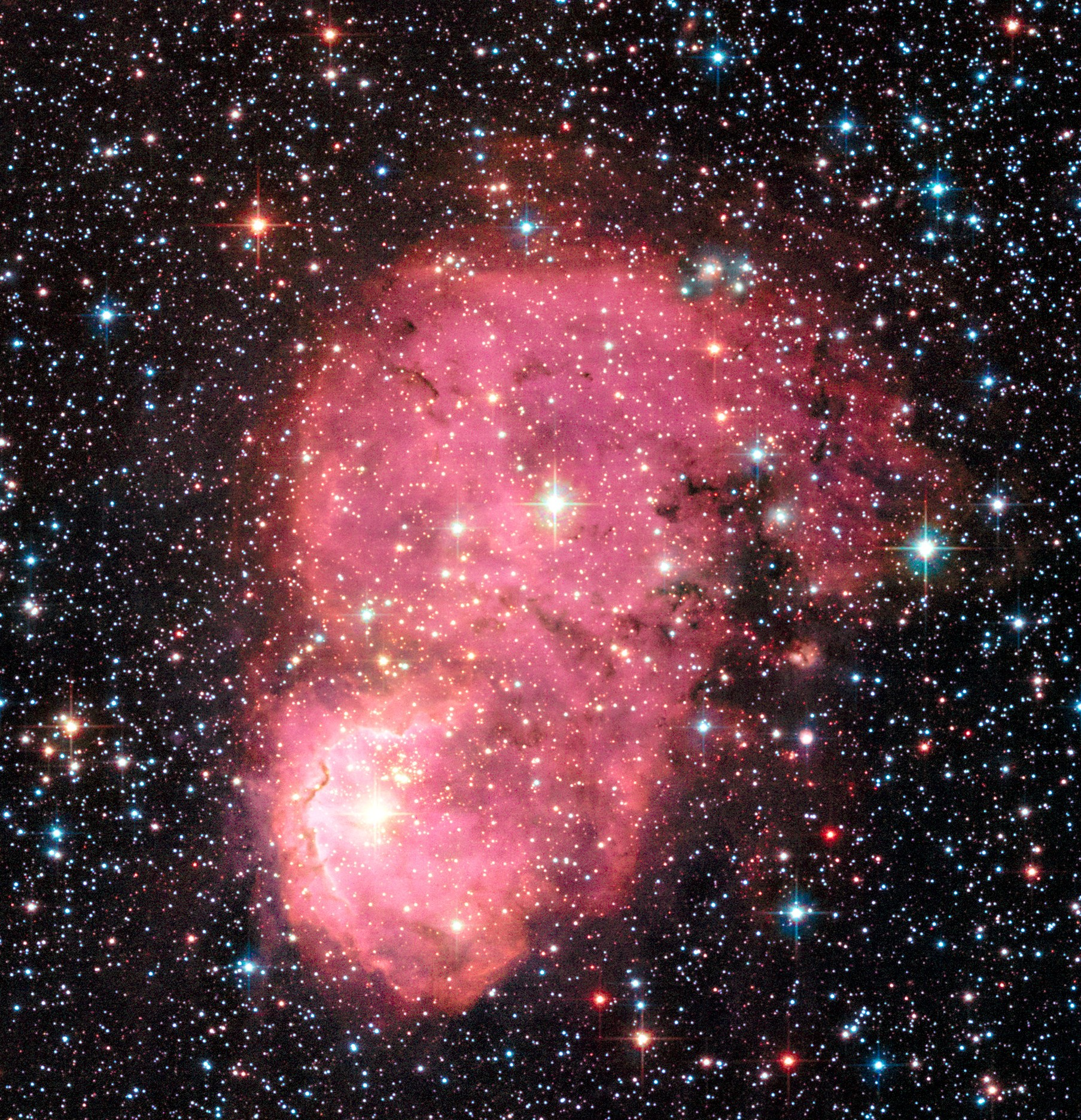 Hubble Space Telescope view of NGC 248 in the Small Magellanic Cloud