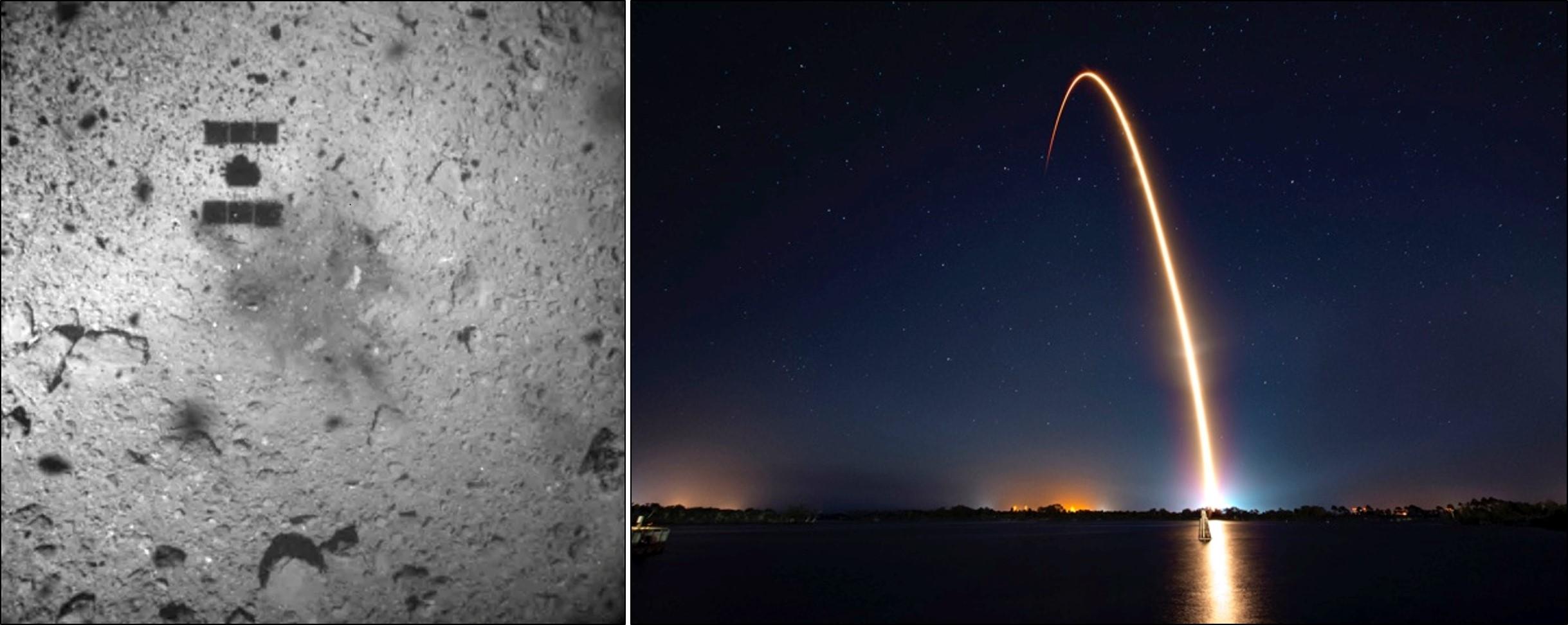 Hayabusa 2 on Ryugu; Beresheet heads for the Moon