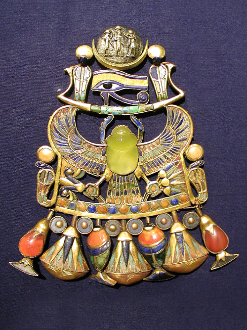 pectoral worn by King Tutankhamen
